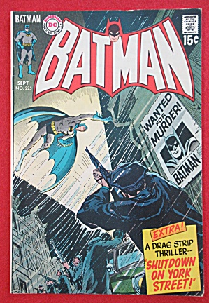 Batman Comic September 1970 Wanted For Murder One