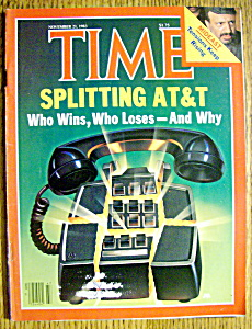 Time Magazine-november 21, 1983-splitting At & T