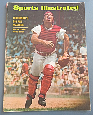 Sports Illustrated Magazine July 13, 1970 Johnny Bench (Image1)