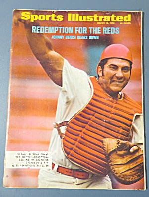 Sports Illustrated Magazine-March 13, 1972-Johnny Bench (Image1)