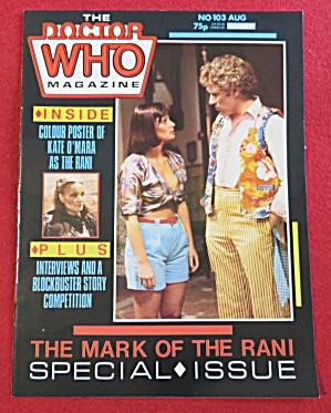 Doctor (Dr) Who Magazine August 1985 Kate O' Mara (Image1)