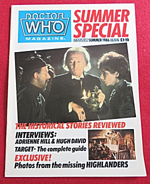 Doctor (Dr) Who Magazine Summer 1986 (Image1)
