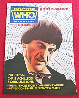 Doctor (Dr) Who Magazine July 1986 Chris Achilleos  (Image1)
