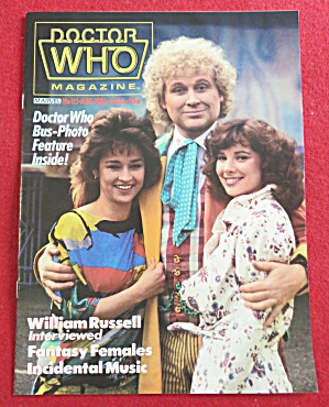 Doctor (Dr) Who Magazine August 1986 William Russell (Image1)