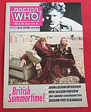 Doctor (Dr) Who Magazine September 1986 John Leeson (Image1)