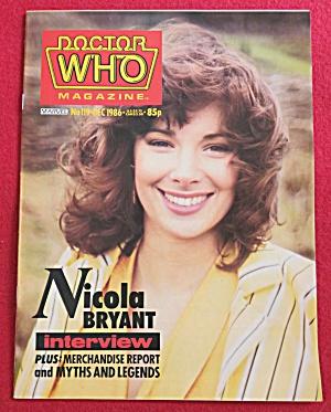 Doctor (Dr) Who Magazine December 1986 Nicola Bryant (Image1)