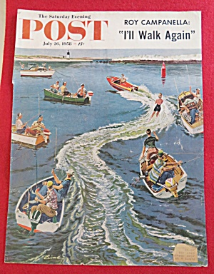 1958 Saturday Evening Post Cover (Only) By Prins (Image1)