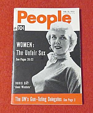 People Today Magazine February 25, 1953 Doris Day  (Image1)