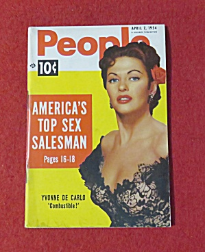 People Today Magazine April 7, 1954 Yvonne De Carlo (Image1)
