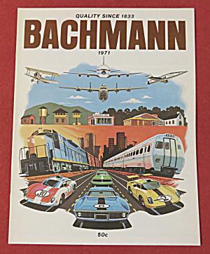 Bachmann Model Railroad Train Catalog 1971 (Image1)