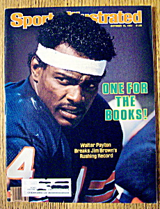 Sports Illustrated Magazine-October 15, 1984-W Payton (Image1)