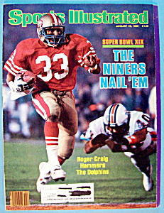 Sports Illustrated Magazine -Jan 28, 1985- Roger Craig (Image1)