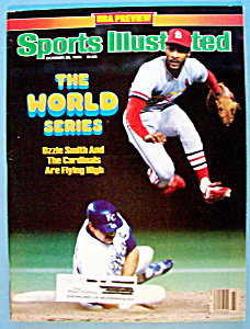 Sport Illustrated Magazine-october 28, 1985-ozzie Smith