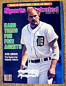 Sports Illustrated Magazine-december 9, 1985-k. Gibson
