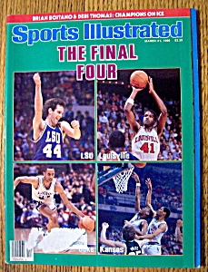 Sports Illustrated Magazine-march 31, 1986-final Four