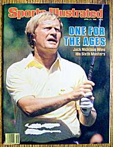 Sports Illustrated Magazine-april 21, 1986-j. Nicklaus