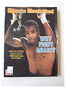 Sports Illustrated Magazine -Sep 8, 1986- Sugar Ray (Image1)