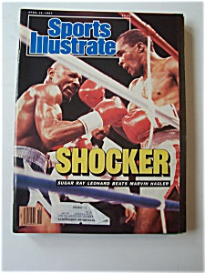 Sports Illustrated Magazine -april 13, 1987- Sugar Ray
