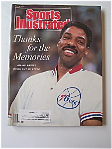 Sports Illustrated Magazine -may 4, 1987- Julius Erving