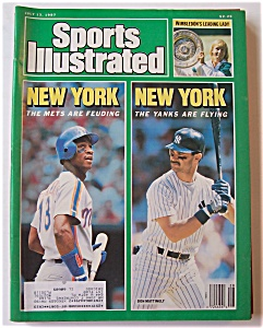 Sports Illustrated Magazine -july 13, 1987- Mets/yanks
