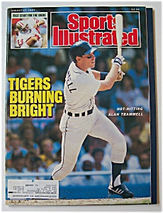 Sports Illustrated Magazine-august 17, 1987-a. Trammell