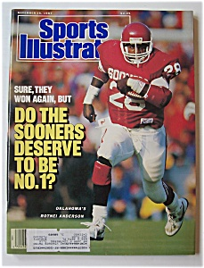 Sports Illustrated Magazine -Nov 16, 1987- R. Anderson (Image1)