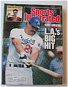 Sports Illustrated Magazine -march 7, 1988- Kirk Gibson