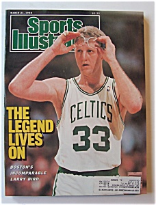 Sports Illustrated Magazine -march 21, 1988- Larry Bird