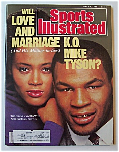 Sports Illustrated Magazine -june 13, 1988- Mike Tyson