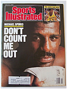 Sports Illustrated Magazine -june 20, 1988- M. Spinks