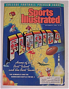 Sports Illustrated September 5, 1988 Florida
