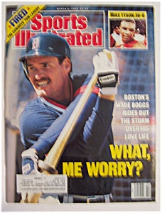 Sports Illustrated Magazine -march 6, 1989- Wade Boggs