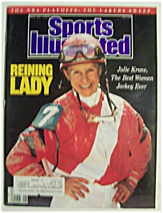 Sports Illustrated Magazine -may 22, 1989- Julie Krone