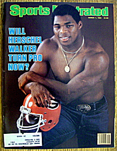 Sports Illustrated Magazine-Mar 1, 1982-Herschel Walker (Image1)