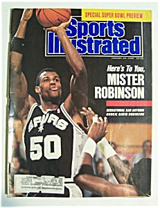 Sports Illustrated Magazine-Jan 29, 1990-David Robinson (Image1)