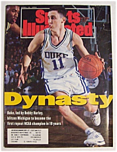 Sports Illustrated Magazine-april 13, 1992-bobby Hurley
