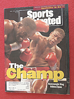 Sports Illustrated Magazine-November 23, 1992-Riddick (Image1)
