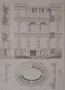 Amphitheatre De Pola  (1852 Lithograph) (Image1)