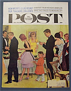 Saturday Evening Post Cover By Hughes - Nov 11, 1961