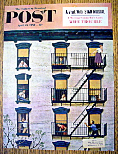 Saturday Evening Post Cover By J. Falter-april 19, 1958