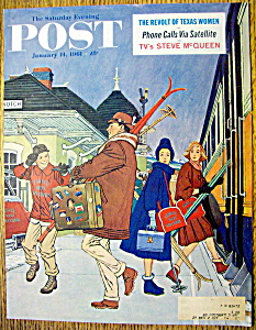 Saturday Evening Post Cover By Williamson-jan 14, 1961