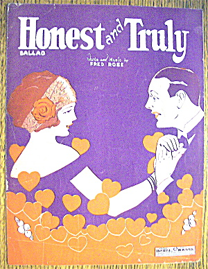 Sheet Music For 1924 Honest And Truly