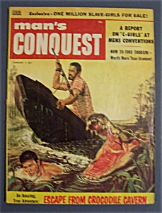 Vintage Man's Conquest Magazine - January 1958