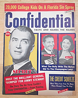 Confidential Magazine January 1960 Jimmy Stewart & More (Image1)