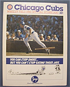 Chicago Cubs Official Scorecard - 1985 (Image1)