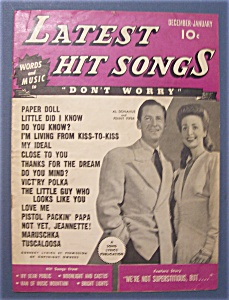 Latest Hit Songs Magazine-december 1943 - January 1944