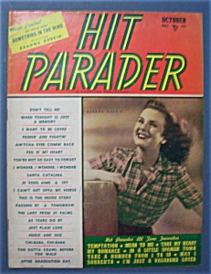 Hit Parader Magazine -october 1947- Deanna Durbin Cover