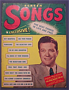 Screen Songs Magazine -april 1948- Dennis Morgan Cover