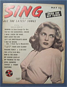 Sing Magazine - May 1948 - Lizabeth Scott Cover
