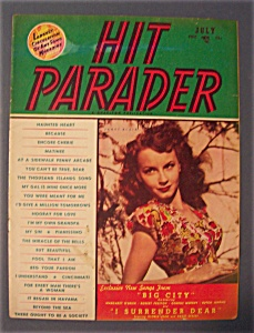 Hit Parader Magazine - July 1948 - Janet Blair Cover